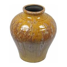 Ceramic Vase, Yellow