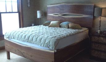 Handmade Reclaimed Walnut Bedframe