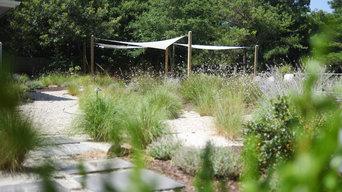 Poolside Perennial Garden