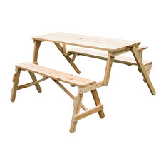 Outsunny 2 in 1 Convertible Picnic Table and Garden Bench