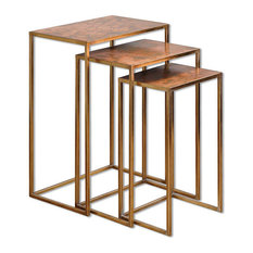 Uttermost Copres Oxidized Nesting Tables 3-Piece Set by Uttermost