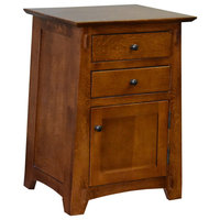 Mission Style Tapered Leg 2-Drawer Nightstand