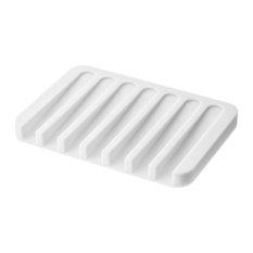 Flow Silicone Soap Tray, White