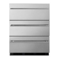 Commercial 3-Drawer, Refrigerator Built-In Use SP6DSSTBOS7THIN