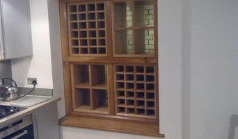 Wine rack in basement light well
