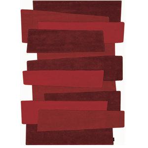 Pebbles Steps Rug, Red, 240x170 cm