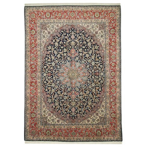 Isfahan Rug, Persian Carpet, Hand-Knotted, 410x305 cm