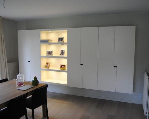 Kast op maat woonkamer ontwerp qtd interieurarchitecten - Woonkamer design bibliotheek ...