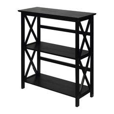 Montego Bookcase, Espresso, 3 Shelf