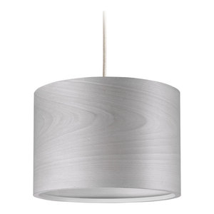 Long Veneli Pendant Light, Light Grey Ash Veneer