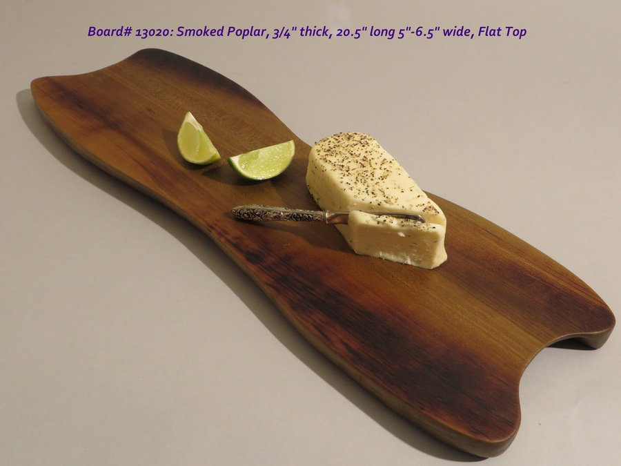 Hand-Carved Smoked Poplar Serving Board