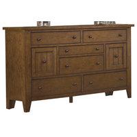 Liberty Furniture Hearthstone 8 Drawer Dresser, Rustic Oak
