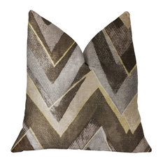 "Badger Cove Brown Luxury Throw Pillow, 16""x16"""