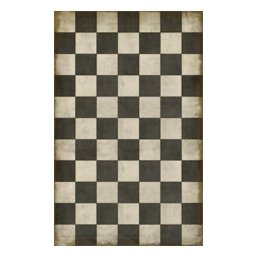 Vintage Vinyl Floorcloths, Checkered Past, 21x30