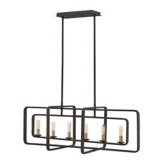 6-Light Island Chandelier, Buckeye Bronze