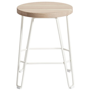 Move Bar Stool, White and Natural, Small