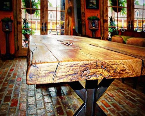 Sinker Cypress Slab Table