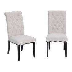 Home Beyond 2-Piece Dining Chair Set, Beige