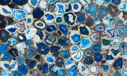 Blue Agate-Aura Semi Precious Stone