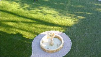 Brunnen in Gartenanlage
