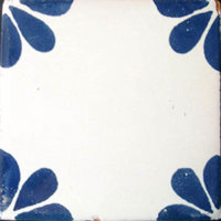 "4""x4"" Mexican Ceramic Handmade Tile #C079"