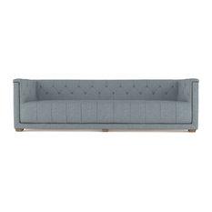 Hudson 9' Linen Sofa Haze