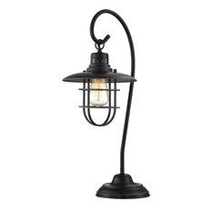 Table Lamp, D.Brz Metal Lantern, E27 Vintage Bulb 60W(Lu-60V