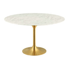 "Lippa 54"" Round Artificial Marble Dining Table by Modway"