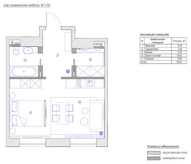 Современный Внутренний план by Дизайн-бюро Татьяны Алениной
