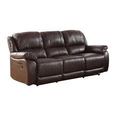 Milton Greens Stars Inc   Rena Top Grain Leather Reclining Sofa, Espresso    Sofas