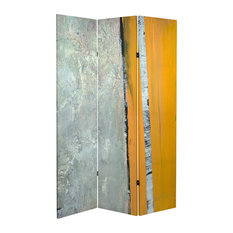 6' Tall Double Sided Birch Grove Canvas Room Divider