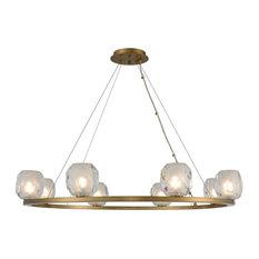 Kalco Lighting Stella 8 LED Light Pendant, Winter Brass