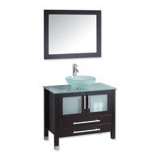 the tub connection mercer 36 espresso oak single vanity set brushed nickel faucets - Small Modern Bathroom Vanities