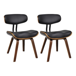 vidaXL Bentwood and Faux Leather Dining Chairs With Backrest, Set of 2