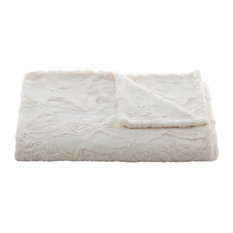 Lux Throw in Rabbit Ivory