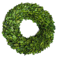 Boxwood Round Wreath Single Side 16""