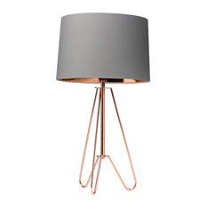 Ziggy Table Lamp, Copper/Grey