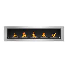 """Cambridge 71"""" Ventless Built, Wall Recessed Bio Ethanol Wall Mounted Fireplace"""