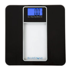 Bluestone Digital Glass Bathroom Scale with LCD Display, Black