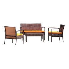 Thyhom 4-Piece Conversation Set, Orange