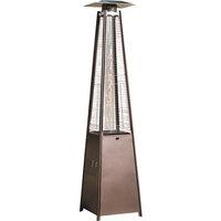 Patio Heater, Pyramid With Dancing Flame, CSA Cert., 45,000 BTU, Hammered Bronze