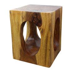 Haussmann? Wood Windows Coffee Table 16 In X 16 In X 20 In High Walnut Oil