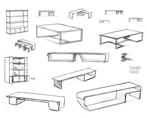 Modern Furniture Sketches furniture design sketches