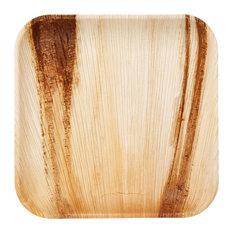 "Frondware 10"" Palm Leaf Square Disposable Plates, Set of 25"