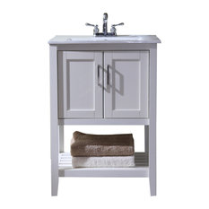 """24"""" Transitional Single Sink Bathroom Vanity"""