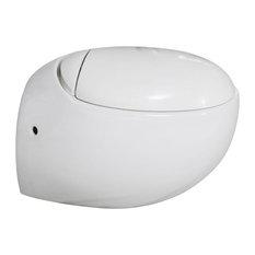Plaisir Wall Hung Toilet Bowl, White