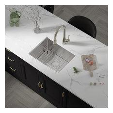 """23""""X18""""X10"""" KH2318R15 18 Gauge/1.5Mm Radius Single Bowl Undermount Kitchen Sink"""