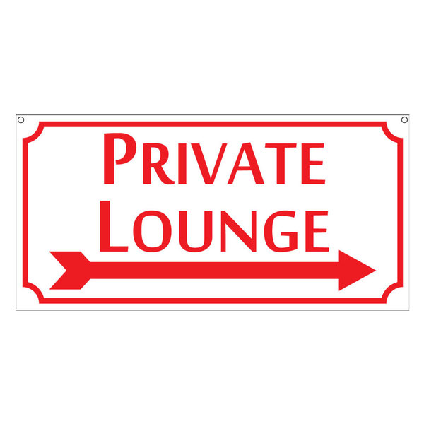 Private Lounge, Aluminum Pub Bar Tavern Club Restaurant Sign, 6