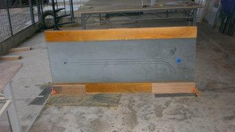 Pivot Hinged Wood Glass Doors
