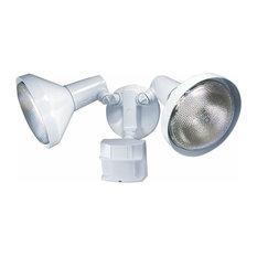Heath Zenith HZ-5412 2 Light 180 Degree Motion Activated Security - White